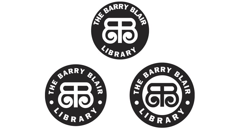 The Barry Blair Library Logo Design
