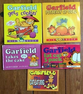 "The different sizes of ""Garfield""."