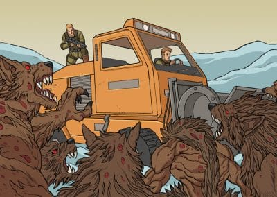 Zombie Attack Snow Cutter1