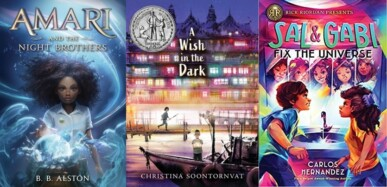 cover images of three middle grade fantasies